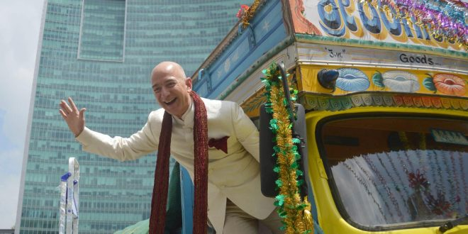 Amazon founder becomes richest person in the world